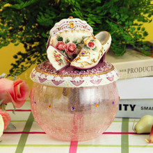 rose ceramic glass food container candy Dessert Snack jar kitchen storage home decor handicraft figurine wedding decoration