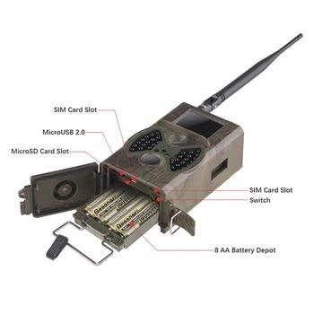 HuntingTrail Camera Cellular Mobile 2G MMS SMTP Photo Trap Night Vision Wireless Wildlife Surveillance Tracking HC300M 3
