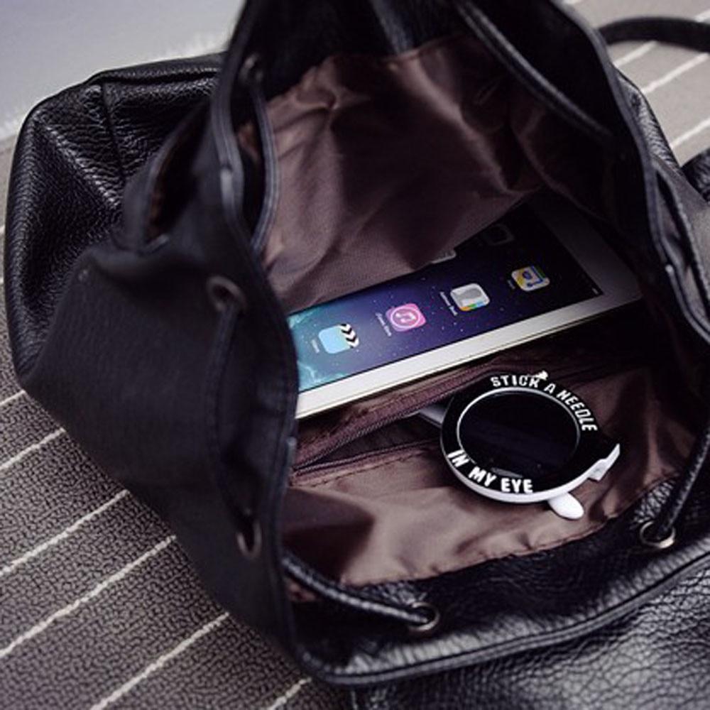New Leather Backpack Women Backpacks Solid Schoolbag For Teenage Girl Waterproof Travel Bags For Women 2019 Deri Sirt Cantasi #5