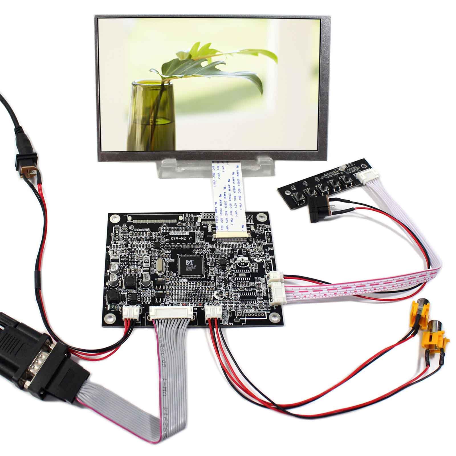 VGA+2AV Reversing LCD Controller Board With 7inch 800x480 AT070TN83 LCD Screen vga 2av reversing lcd controller board with 7inch 1024x600 at070tna2 lcd screen