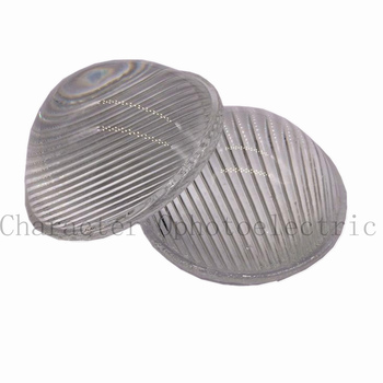 2pcs 51mm LED Striped Optical Convex Glass Led Lens for Spotlight, Car Light and Flashlight
