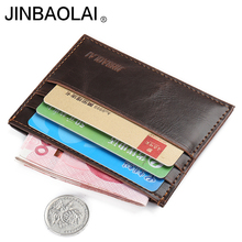 wallet men top quality small credit card wallet mini ultral thin wallet purse one piece leather purse male clutch