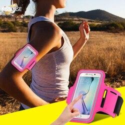KISSCASE femmes hommes étanche course Sport bras bande étui en cuir universel téléphone sac étui pour iphone 6 7 5 5 S bande de téléphone Mobile