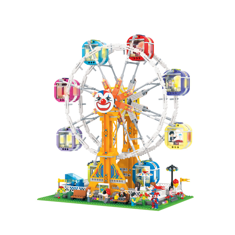 AIBOULLY Friends Series City Park Ferris Wheel Model Building Block Girl Toys Kids Gifts Bricks minis Compatible With hot city series aviation private aircraft lepins building block crew passenger figures airplane cars bricks toys for kids gifts