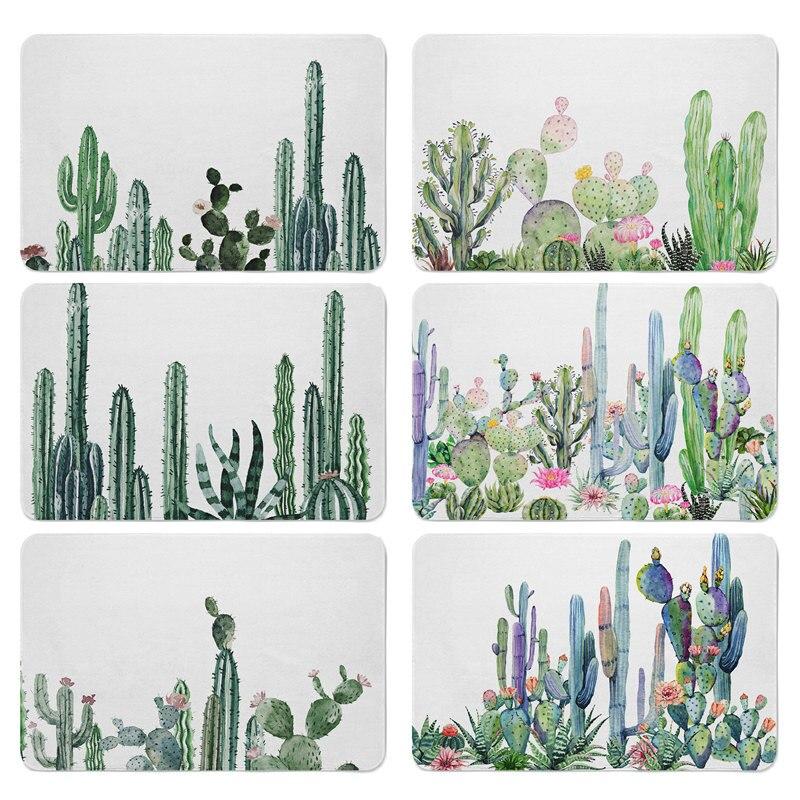 Africano Tropical Cactus Plantas Suculentas Plantas Do Deserto Selo Tapete Footcloth Tapete para Casa Almofadas 40X60 cm