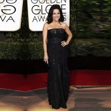 Goldene Globale Academy Awards 2016 Oscar Gerade Spitze Roter Teppich Kleider Elegant Schwarz Celebrity Kleider Abend Prom Kleider OE13