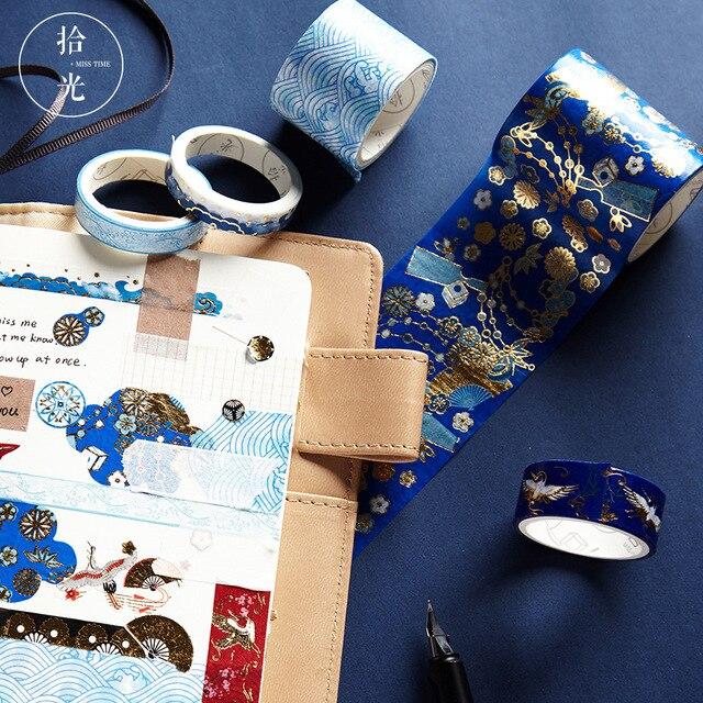 5 unids/lote Mohamm Retro decorativa Washi cinta conjunto de papel japonés pegatinas Scrapbooking adhesivo Washitape estacionario