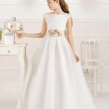 Г. Платья с короткими рукавами для девочек, держащих букет невесты на свадьбе; ТРАПЕЦИЕВИДНОЕ кружевное платье с цветами и бусинами; длинные платья для первого причастия для маленьких девочек
