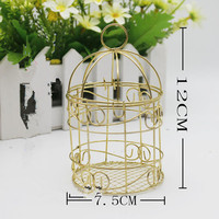 10/30 pieces Wedding bell / clam candy box / European style gift gift: Iron Bird Cage / personalized wedding candy box