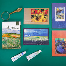 30 Sheets/Set Art oil painting Message Card Floating Like a Dream Postcard/Greeting Card/Birthday Letter Envelope Gift