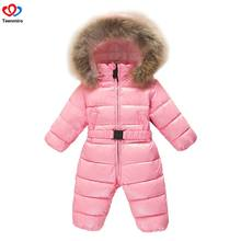 2019 Children s Winter Jumpsuit Infant Snowsuit Baby Thick Down Fur Coat  Newborn Snow Wear Rompers for Boy Girl Parka Costumes 8ed332b76