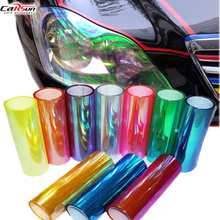 цена на 100*30CM Chameleons Change Color Headlight Lamp Stickers Flashpoint DIY Film Car Headlight Film Tail Lamp Film Stickers
