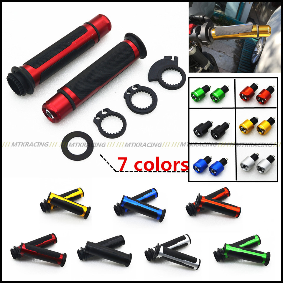 For HONDA CBR400 CB400 VTEC MC22 MC29 CB750 7/8'' 22MM Motorcycle Handle bar Handlebar Grips&ends CNC Moto Racing Grips