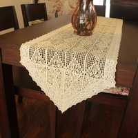 American Country Style Handmade Crochet Tablecloths Crochet Home Restaurant Table Ornaments Coffee Table Flag Cup Mat