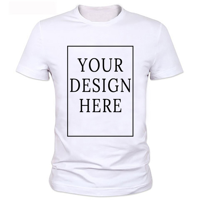 dc48514b6 Unisex Custom Logo Printed Personalized Men T Shirts Customized solid Color  Text Photo Printing Apparel advertising T-shirt