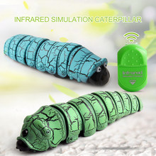 Remote Control Caterpillar Toys Infrared Induction Remote Control Caterpillar Animal Insect Electric Toy Christmas Gift(China)