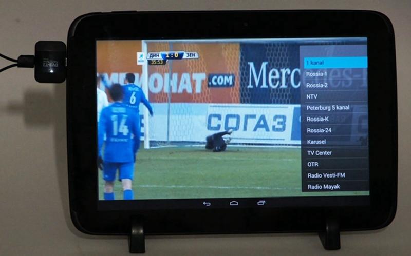 H 265/H 264 Full HD DVB T2 receiver micro USB tuner pad HD
