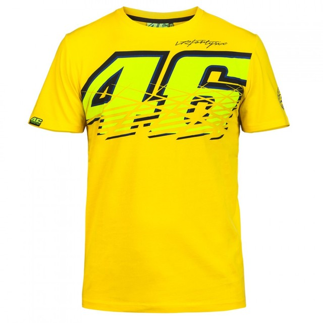 Valentino Rossi VR46 Moto GP Monza Cotton T-shirt 46 Large LOGO T Shirt YELLOW