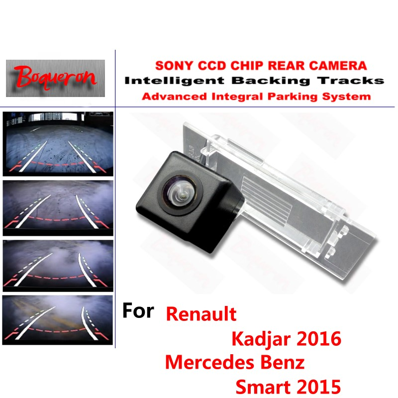 for Renault Kadjar 16 for Mercedes Benz Smart CCD Car Backup Parking Camera Intelligent Tracks Dynamic Guidance Rear View Camera