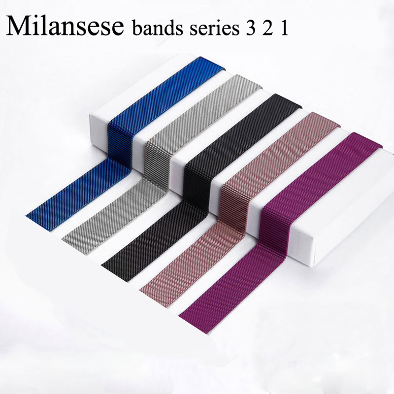 Milanese Loop correa for Apple Watch Band 38mm 42mm Iwatch series 3/2/1 Stainless Steel Bracelet strap Watchband Accessories mesh stainless steel milanese loop band for apple watch 42mm 38mm strap bracelet watchband for iwatch series 3 2 1 accessories