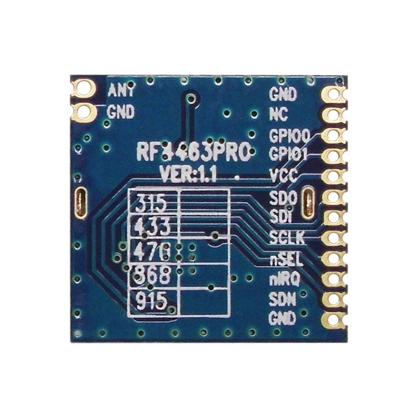 4 pçs / lote 915MHz | Módulo Si4463 RF de 868MHz, transceptor - Equipamento de comunicação - Foto 3