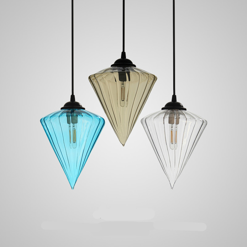 Vintage Exotic Crystal Glass E14 Pendant Light For Dining Room Lamp Living Room Cafe Bar Dining Room 18*21cm 1438 edison inustrial loft vintage amber glass basin pendant lights lamp for cafe bar hall bedroom club dining room droplight decor