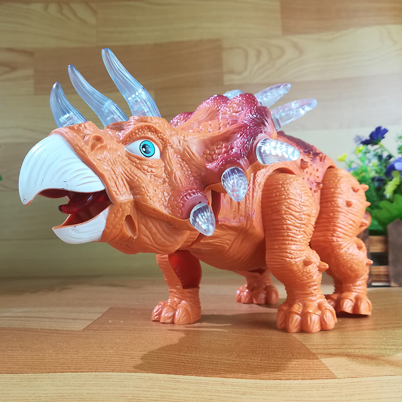 High Quality Cartoon Electric Toy Large Size Walking Dinosaur With Light Sound Kids Toys