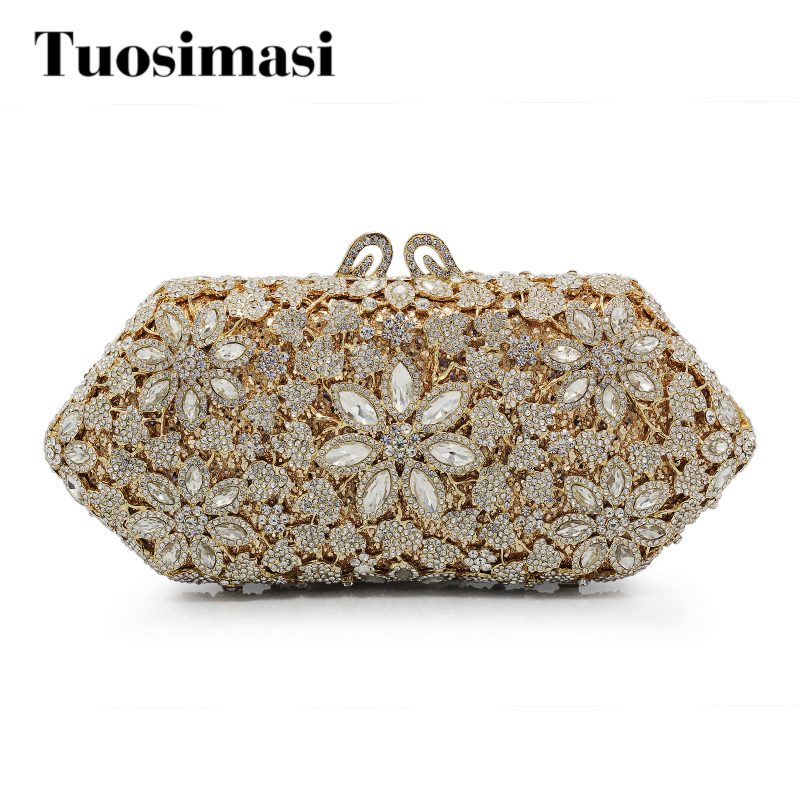 20c132d357c5 Bag Women Handbag Bling Ladies Clutches Golden Rhinestone Clutch Evening Bag  Metal Mesh Soft Bags