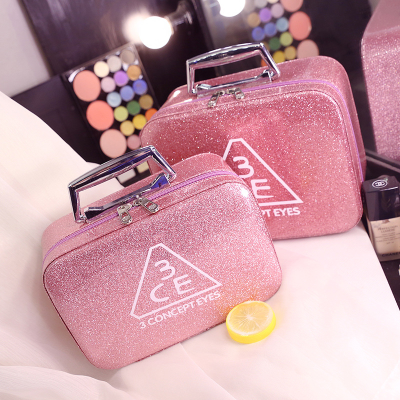 Portable Storage Box PVC Cosmetic Makeup Bag Travel Storage Cosmetic Case Pink Toiletry Kits top quality suitcase travel transport safety storage case bag for dji spark accessories pgytech portable explosion proof box