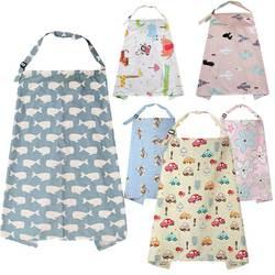 Breathable Baby Feeding Nursing Covers Mum Breastfeeding Nursing Poncho Cover Up Cotton Adjustable Neckline Cover T0893