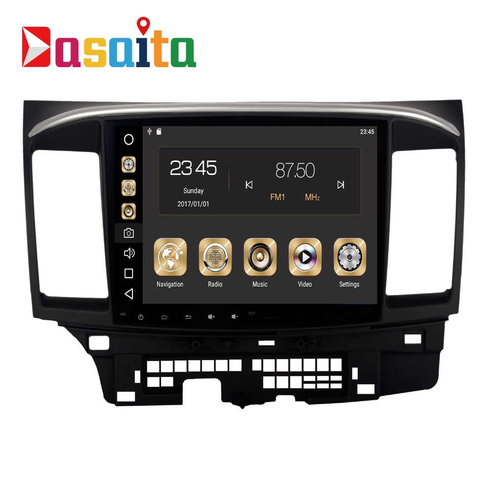 Car 2 din android 8.0 GPS for Mitsubishi Lancer autoradio navigation head unit multimedia 4Gb+32Gb 64bit PX Android PX5 8 Core