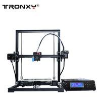 Tronxy DIY Tronxy 3D Printer Metal frame bowden extruder large print size 220x220x300mm LCD control box 8GB SD card&PLA free