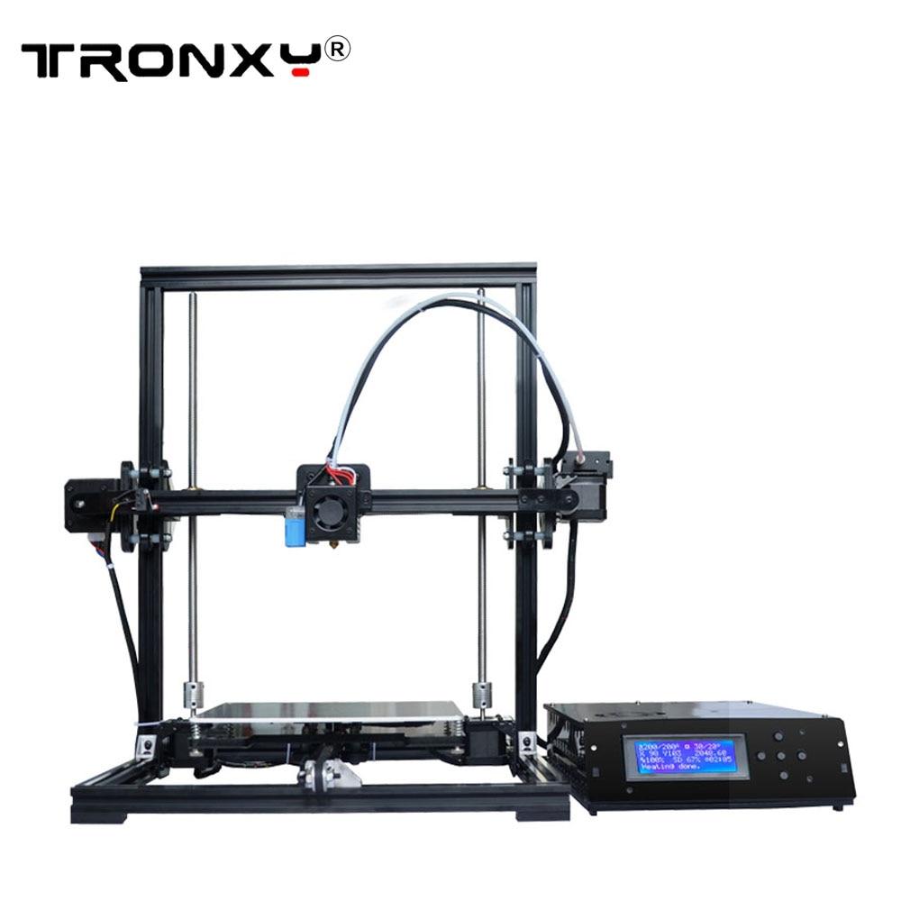 Tronxy bricolage Tronxy 3D imprimante métal cadre bowden extrudeuse grande taille d'impression 220x220x300mm LCD boîte de contrôle 8 GB carte SD & PLA gratuit