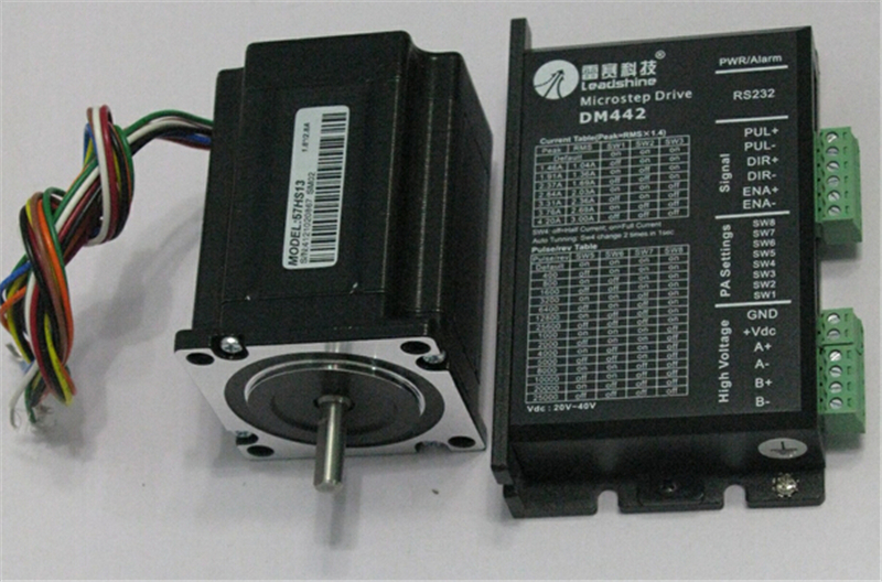 Leadshine Stepper Motor Drive 2ph 2.8A 1.3NM NEMA23 57mm 18~40VDC For CNC Engraving Machine 57HS13+<font><b>DM442</b></font> image