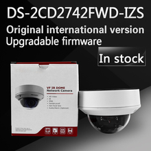 In stock Free shipping english version DS-2CD2742FWD-IZS Audio, POE 4MP WDR Vari-focal Motorized Lens Dome Network IP Camera