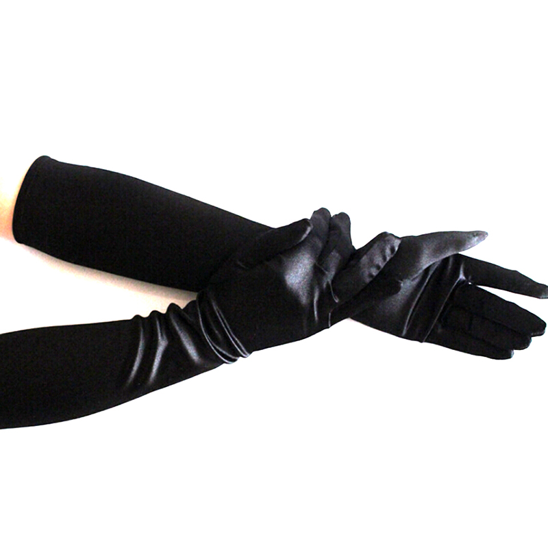 1 Pair Women Ladies Leather Over Elbow Long Gloves Evening Party Glove Wear
