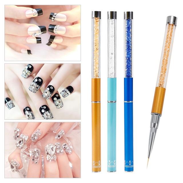 ELECOOL 1pcs Nail Art Painting Pen Drawing Brush Set Gel Polish Tip ...