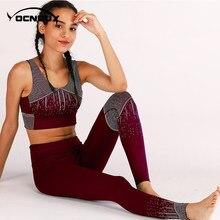 Yocndux Femmes de Fitness survêtement D entraînement Top Et Legging  Pantalon 2 pièces Ensemble 2018 d0f9fd452af