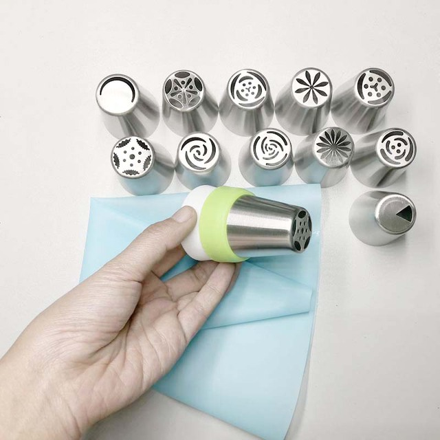 Cake Decorating Flower Icing Nozzles Set |Piping Stainless Steel