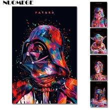 NUOMEGE The Force Awakens - Star Wars 7 Darth Vader Art Silk Poster and Prints Movie Posters Bar Cafe Living Room Wall Decor star wars the force awakens 3d with led light tatooine c 3po see threepio jabba the hutt wall lamp living room decoration s580