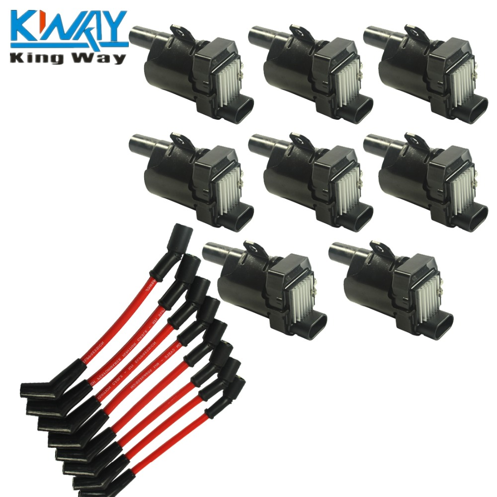 online get cheap chevy ignition coil aliexpress com alibaba group shipping king way set of 8 ignition coils kit 8 pcs spark plug ignition wires set for chevy