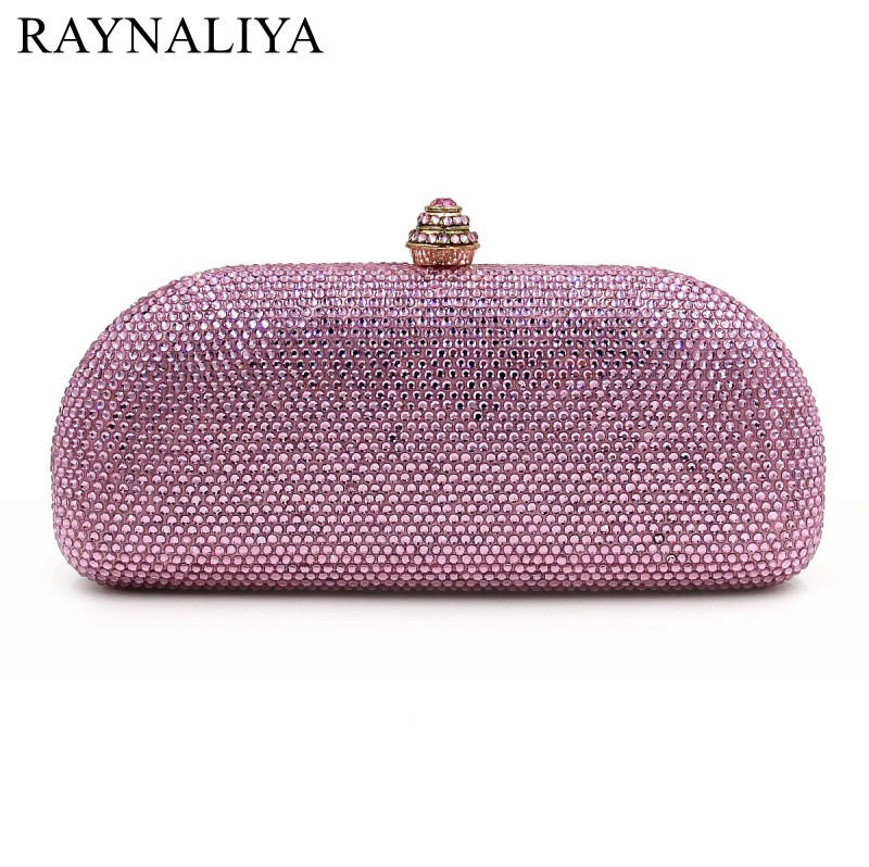 Pink Box Women Evening Bags Ladies Wedding Party Clutch Bag Crystal Diamonds Purses Fashion Solid Minaudiere Smyzh-e0142 women luxury rhinestone clutch beading evening bags ladies crystal wedding purses party bag diamonds minaudiere smyzh e0193 page 7