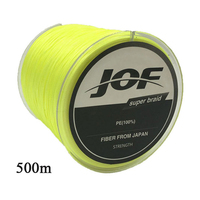 JOF 500m Fishing Line 8 Strands PE Big Horsepower Braided Fishing Line 8Weaves Strong Braided Wire