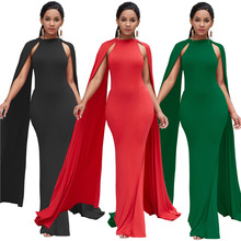 Women Dress Elegant For Party solid Formal Dress Plus Size tail tall waist  African Dresses For ca2714fef808
