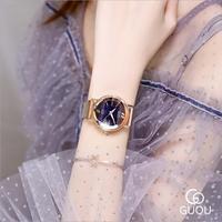 GUOU Retro Exquisite Women's Watches Light Luxury Quartz Watch Women Fashion Stainless Steel Ladies Watch Saat relogio feminino