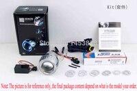 2 0ABD Universal 35w 2 Inch Bixenon Hid Projector Headlight Kit For Motorbike Yellow White Green