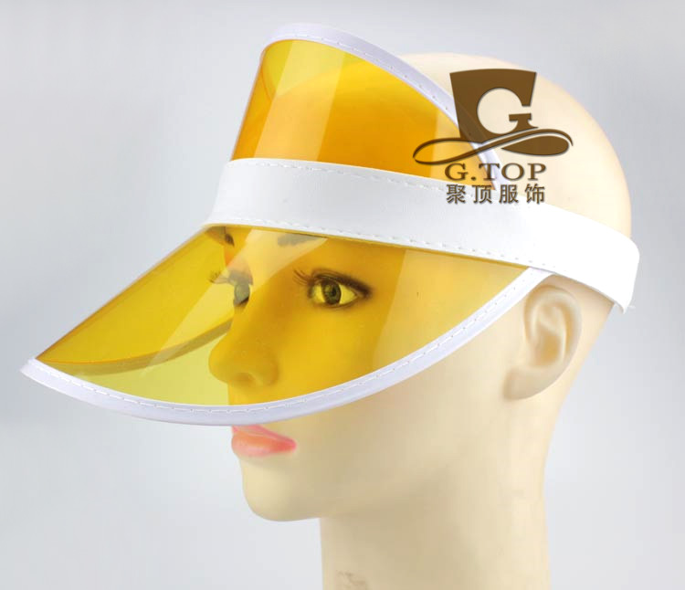 12pcs Neon Sun Visor Peak Cap Clear Plastic Sunvisor Party Hat Festival  Fancy Dress Poker Headband-in Sun Hats from Apparel Accessories on  Aliexpress.com ... 94f43965117