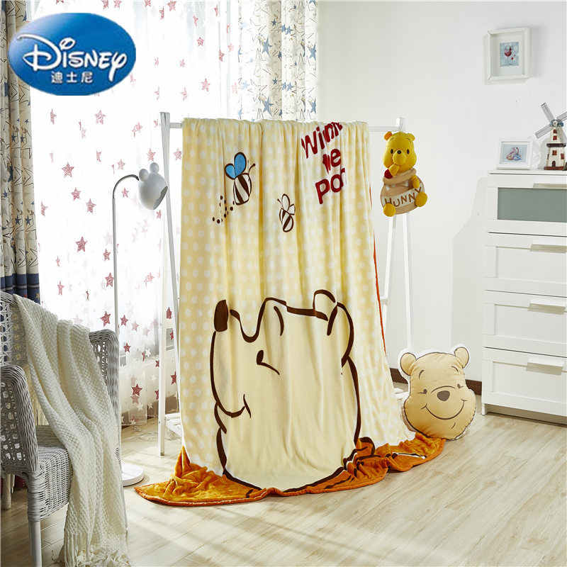 Disney Autentico Winnie The Pooh Coperta Coperte e Plaid per I Bambini di Età sul Divano Letto Divano 200x230 CM Scherza il Regalo
