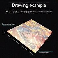 ELENXS A4 LED Artist Thin Art Stencil Drawing Board Light Box Tracing Table Pad Board