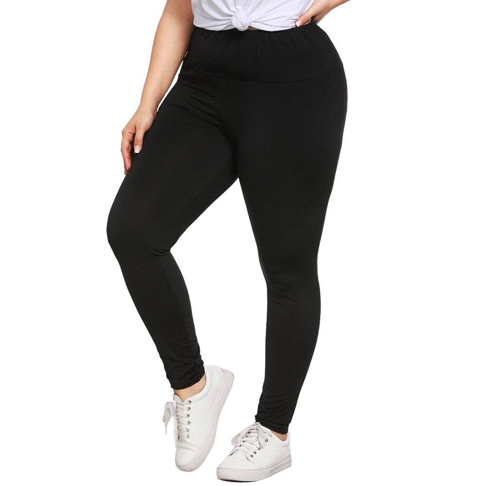 Fashion Plus Size Women Fitness   Leggings   Solid Pure High Waist Skinny Skinny Exercise Workout Leggins Jeggings Femme Bottoms